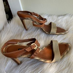 Hype brown heels shoes size 9M